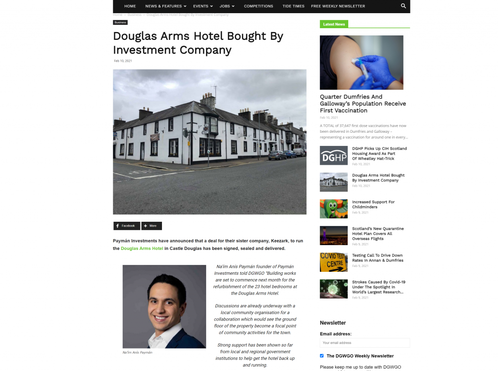 Dumfries & Galloway! What's Going On? Douglas Arms Hotel